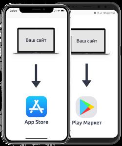 Мобильное приложение для сайта